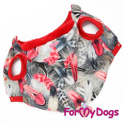 ForMyDogs Куртка для больших собак Перышки со съемным капюшоном (фото)