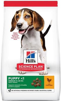 Сухой корм HILL'S Puppy Medium Chicken для щенков средних пород с курицей (фото)