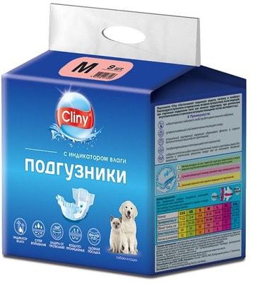 Cliny Подгузники для собак и кошек M 5-10кг (фото)