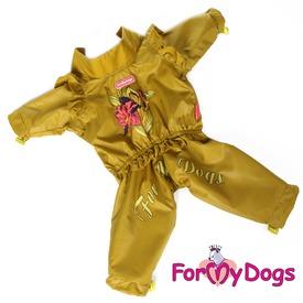ForMyDogs Дождевик для девочек оливковый (фото)