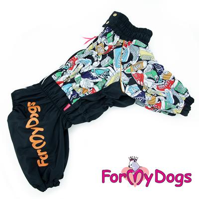 ForMyDogs Дождевик на крупные породы собак Кеды мальчик (фото)