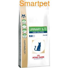 Royal Canin Корм для кошек при МКБ, быстрое растворение струвитов - Urinary S/O High Dilution