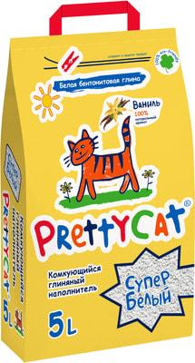 PrettyCat Наполнитель для кошачьего туалета Cупер белый с ванилью (фото)