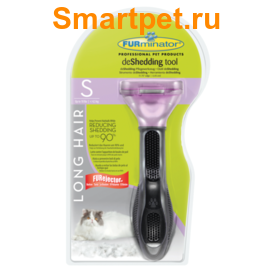 Furminator Long Hair Small Cat для маленьких кошек длинношерстных пород 4см