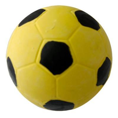 MAJOR Игрушка для собак Мяч футбольный желтый с пищалкой, латекс