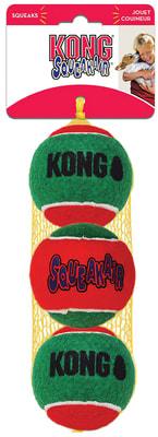 Kong Holiday игрушка для собак Теннисный мячик 3шт (фото)