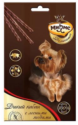Мнямс Лакомые палочки Деликатес для собак с мясом дикого кабана и лесными ягодами 13,5см