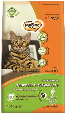 Сухой корм Мнямс Active Life с кроликом для взрослых кошек (фото)