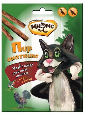 Мнямс Пир охотника Лакомые палочки для кошек (дичь, гусь)
