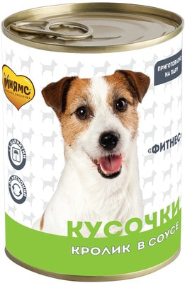 Мнямс Кусочки в соусе с кроликом для собак всех пород «Фитнес» (фото)