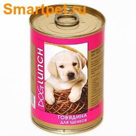 Dog Lunch Консервы для щенков Говядина