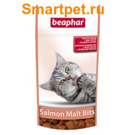 BEAPHAR Malt-Bits Подушечки для вывода шерсти из желудка с Лососем