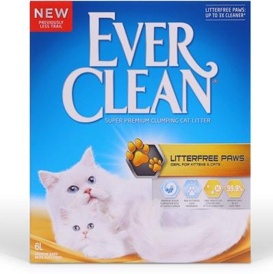 Ever Clean LitterFree Paws - комкующийся наполнитель для идеально чистых лап (фото)