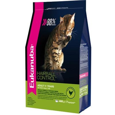 Eukanuba Сухой корм для вывода шерсти из желудка с домашней птицей для кошек. Adult hairball/indoor (фото)