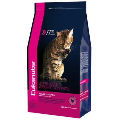 Eukanuba Сухой корм для взрослых кошек с избыточным весом и стерилизованных. Adult sterilised/ Weight control (фото)