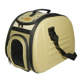 Ibiyaya Складная сумка-переноска для собак и кошек до 6кг бежевая (фото)