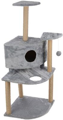 Smartpet Игровой комплекс Угловой Серый для кошек с домиком и когтеточкой