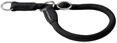 Hunter Ошейник-удавка Freestyle нейлоновая стропа черная (фото)