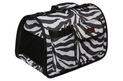 Lion Сумка переноска Зебра черная с карманами на ножках (фото)