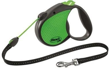 Поводок-рулетка flexi Limited Edition Neon Reflect M (до 20 кг) трос 5 м (фото)