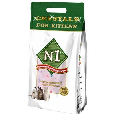 №1 Наполнитель для котят силикагелевый Crystals For Kittens - купить от 511 руб. в интернет магазине Смартпет.ру
