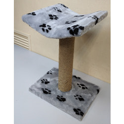 Дарэлл Когтеточка столбик с изогнутой лежанкой для кошек