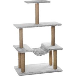 Smartpet Многоярусная когтеточка Серая для кошек с гамаком