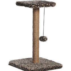 Велес Когтеточка-столб с полкой и одной игрушкой