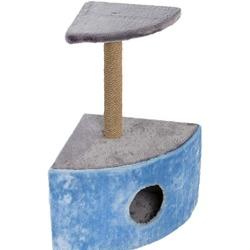 Велес Домик-когтеточка Угловой с одной когтеточкой