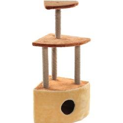 Велес Домик-когтеточка Угловой 3 этажа