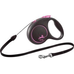 Поводок-рулетка flexi Black Design S, трос 5м, для собак до 12кг