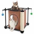 Kitty City Игровой комплекс с когтеточкой для кошек Тайное укрытие Hideaway