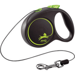 Поводок-рулетка flexi Black Design XS, трос 3м, для собак до 8кг