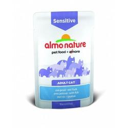 Almo Nature Паучи с рыбой для кошек для улучшения работы кишечника with fish Sensitive with prebiotics and minerals