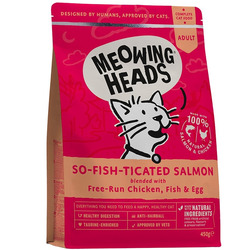 """Сухой корм Barking Heads для взрослых кошек с Лососем, курицей и рисом """"Фиш-гурман"""""""