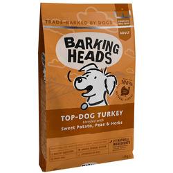 """Barking Heads Сухой беззерновой корм для собак с индейкой и бататом """"Бесподобная индейка"""""""
