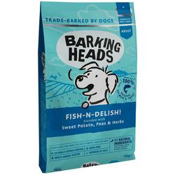 """Barking Heads Сухой беззерновой корм для собак с лососем, форелью и бататом """"Рыбка-вкусняшка"""""""