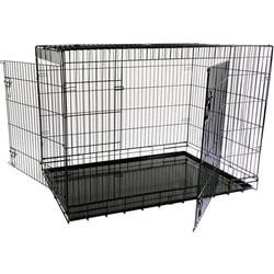 Papillon Клетка для собак металлическая с 2 дверками черная