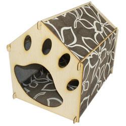 Smartpet Домик для кошек из фанеры Лапка