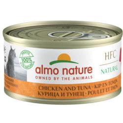 Almo Nature Консервы для Кошек с Курицей и Тунцом 75% мяса