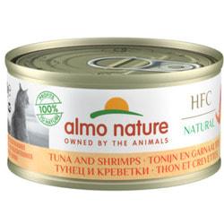 Almo Nature Консервы для Кошек с Тунцом и Креветками 75% мяса
