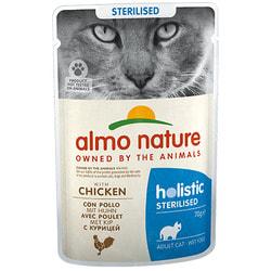 Almo Nature Паучи для кастрированных кошек с цыпленком, Functional Sterilised with Chicken