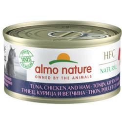 "Almo Nature Консервы для кошек ""Тунец, курица и ветчина"""