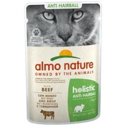 Almo Nature Консервы с говядиной для вывода шерсти у кошек, Functional Anti-Hairball with Beef