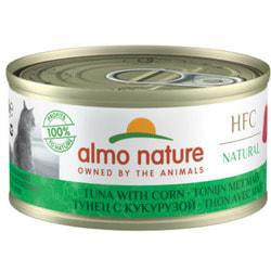 Almo Nature Консервы для Кошек с Тунцом и Сладкой кукурузой