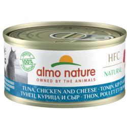 Almo Nature Консервы для Кошек с Тунцом Курицей и Сыром