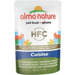 Almo Nature Паучи Холистик для Кошек с Тунцом и Морскими водорослями. Classic Cuisine - Tuna Fillet and Seaweed