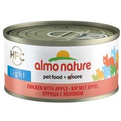 Almo Nature Низкокалорийные консервы для кошек с курицей и яблоком (HFC Almo Nature LIght cats chicken and apple)