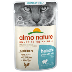 Almo Nature Паучи с рыбой для профилактики мочекаменной болезни у кошек Urinary Support with Fish