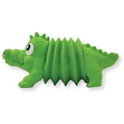 OH Игрушка для собак Accordionz Крокодил латекс с пищалкой